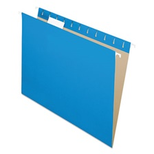 Pendaflex® Colored Hanging Folders, 1/5 Tab, Letter, Blue, 25/Box