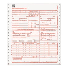 Paris Corporation CMS 02/12 Insurance Claim Form, 2-Part, White/Canary, 9 1/2 x 11, 1000 Forms