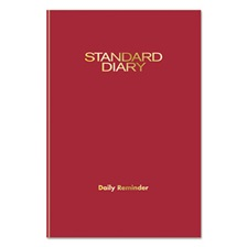 AT-A-GLANCE® Standard Diary Recycled Daily Reminder, Red, 5 1/8 x 7 1/2, 2017