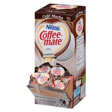 Coffee-mate® Liquid Coffee Creamer, Café Mocha, 0.375 oz Cups, 50/Box, 4 Box/Carton