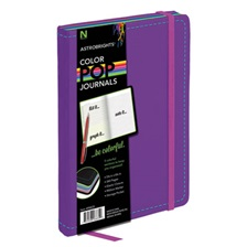 Astrobrights® ColorPop Journal, College Ruled, 8 1/4 x 5 1/8, Purple, 240 Sheets