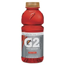 Gatorade® G2 Perform 02 Low-Calorie Thirst Quencher, Fruit Punch, 20 oz Bottle, 24/Carton