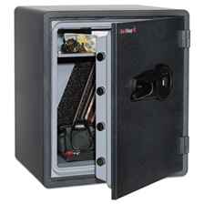 FireKing® One Hour Fire and Water Safe w/Biometric Fingerprint Lock, 2.14 cu. ft, Graphite