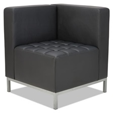 Alera® Alera QUB Series Corner Sectional, 26 3/8 x 26 3/8 x 30 1/2, Black