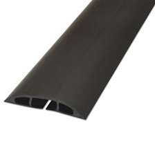 "D-Line® Light Duty Floor Cable Cover, 72"" x 2 1/2"" x 1/2"", Black"