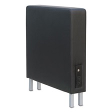 Alera® Alera QUB Series Powered Armrest Wedge, 5 7/8 x 26 3/8 x 30 1/2, Black