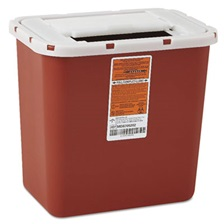 Medline Sharps Container, Freestanding/Wall Mountable, 8qt, 23 1/2 x 19 7/10 x 28, Red