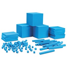 Learning Resources® Plastic Base Ten Class Set, 15 1/2 x 11.4 x 4 1/2, Blue