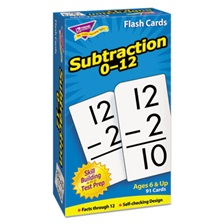 TREND® Skill Drill Flash Cards, 3 x 6, Subtraction