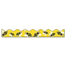 "Pacon® Bordette Bee Dazzle Design Decorative Border, 2 1/4"" x 25ft, Black/White/Yellow"