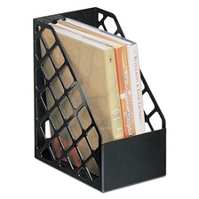 Universal® Recycled Plastic Large Magazine File, 6 1/4 x 9 1/2 x 11 3/4, Black