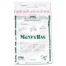 PM Company® Securit® Plastic Money Bags, Tamper Evident, 9 x 12, Clear, 50/Pack