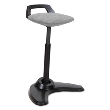 Alera® AdaptivErgo Sit to Stand Perch Stool, Gray with Black Base