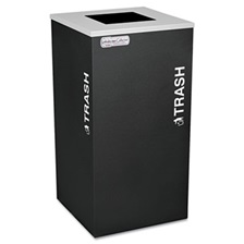 Ex-Cell Kaleidoscope Collection Recycling Receptacle, 24gal, Black