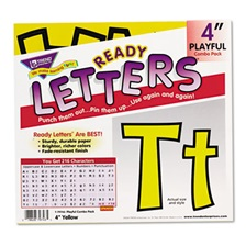 "TREND® Ready Letters Playful Combo Set, Yellow, 4""h, 216/Set"