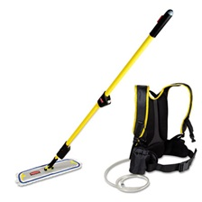 "Rubbermaid® Commercial Flow Finishing System, 56"" Handle, 18"" Mop Head, Yellow"