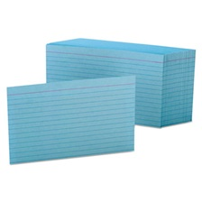 Oxford™ Ruled Index Cards, 4 x 6, Blue, 100/Pack