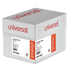 Universal® Green Bar Computer Paper, 18lb, 14-7/8 x 11, Perforated Margins, 2600 Sheets