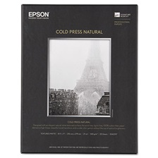 Epson® Cold Press Natural Fine Art Paper, 8-1/2 x 11, 25 Sheets