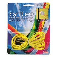 "Alliance® Brites Corner-To-Corner Rubber Bands, 8 1/2"", Yellow, 3/Pack"