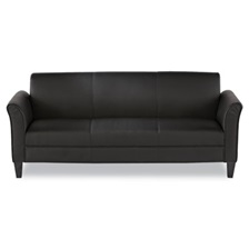 Alera® Alera Reception Lounge Furniture, 3-Cushion Sofa, 77w x 31-1/2d x 32h, Black