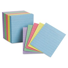 Oxford™ Ruled Mini Index Cards, 3 x 2 1/2, Assorted, 200/Pack