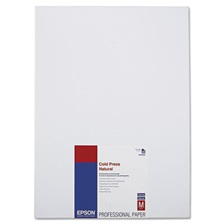 Epson® Cold Press Natural Fine Art Paper, 13 x 19, 25 Sheets