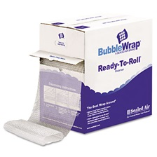 "Sealed Air Bubble Wrap® Cushion Bubble Roll, 1/2"" Thick, 12"" x 65ft"