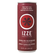 IZZE® Fortified Sparkling Juice, Blackberry, 8.4 oz Can, 24/Carton