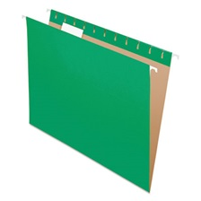 Pendaflex® Colored Hanging Folders, 1/5 Tab, Letter, Bright Green, 25/Box
