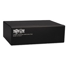 Tripp Lite Video Splitter, VGA/SVGA, 2-Port Signal Booster, HD15 Ports