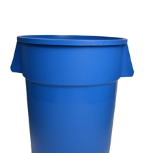 44 Gal. Round Garbage Container Blue
