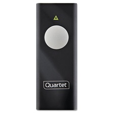 Quartet® Slimline Laser Pointer, Class 2, Projects 655 ft, Black