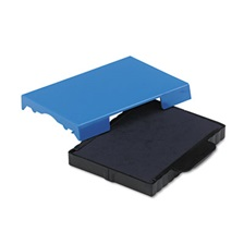 Identity Group Trodat T4727 Dater Replacement Pad, 1 5/8 x 2 1/2, Blue