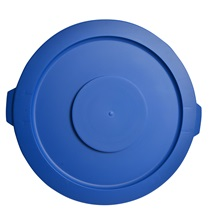 44 Gal. Round Garbage Container Lid Blue