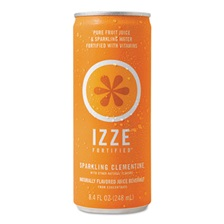 IZZE® Fortified Sparkling Juice, Clementine, 8.4 oz Can, 24/Carton