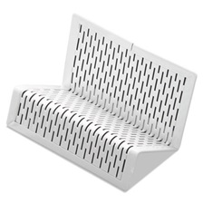 Artistic® Urban Collection Punched Metal Business Card Holder, Holds 50 2 x 3 1/2, White