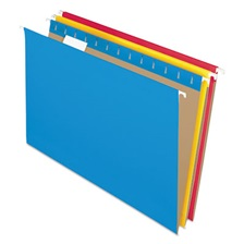 Pendaflex® Colored Hanging Folders, 1/5 Tab, Legal, Assorted Colors, 25/Box