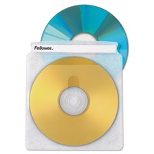 Fellowes® Two-Sided CD/DVD Sleeve Refills for Softworks File, 25/Pack
