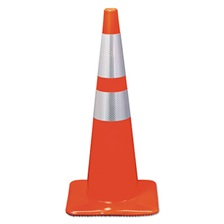3M™ Reflective Safety Cone, 12 3/4 x 12 3/4 x 28, Orange