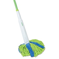 "LYSOL® Brand Cone Mop Supreme, 8"" Wide, 31 3/4"" Steel Handle, Green/Blue, Each"