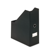 Snap-N-Store® Heavy-Duty Fiberboard Magazine File with PVC Laminate, 4 1/2 x 11 x 13, Black