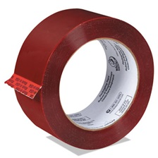 "Duck® Commercial Grd Color-Coding Packaging Tape, 1.88"" x 109.3yds, 3"" Core, Red"