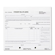 Rediform® Bill of Lading Short Form, 7 x 8 1/2, Four-Part Carbonless, 250 Forms