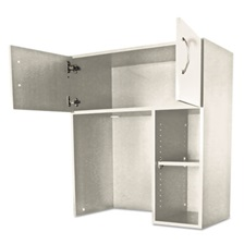 Alera Plus™ Hospitality Hutch, 36 x 18 x 40 1/4, Gray