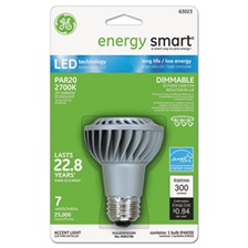 GE energy smart Dimmable LED Bulb, Par20, 7 Watts