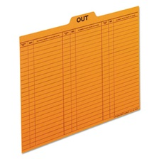 Pendaflex® Out/Substitution Guides, 1/5 Top Tab, 11 pt Stock, Letter, Salmon, 100/Box