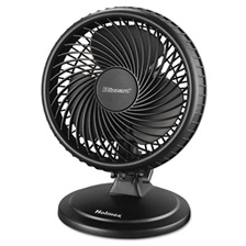 "Holmes® Lil' Blizzard 7"" Two-Speed Oscillating Personal Table Fan, Plastic, Black"
