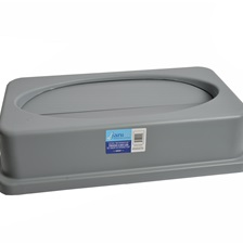 23 Gal. Rectangular Garbage Can Spring Top Lid