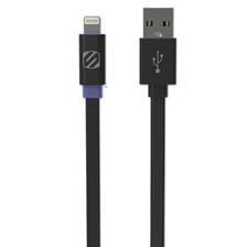 Scosche® flatOUT LED Charge/Sync Cable with Charge LED for Lightning USB Devices, 3 ft